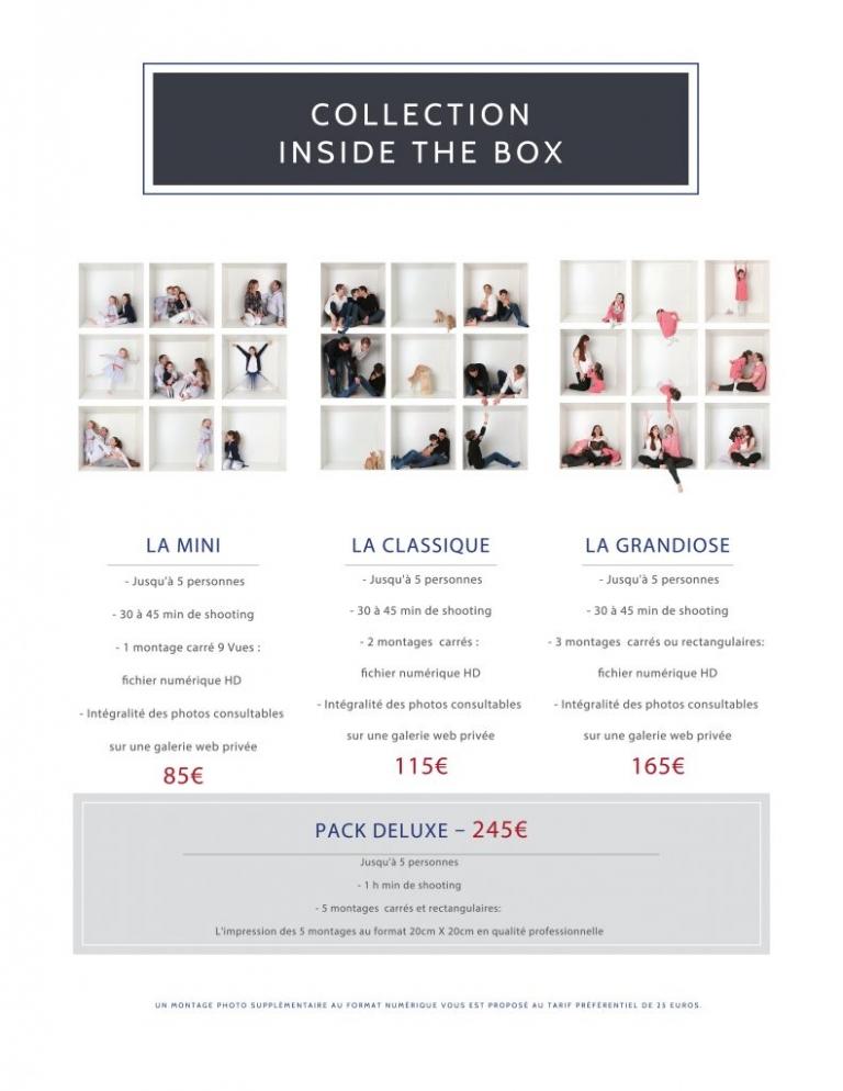 Tarifs de la collection inside the box