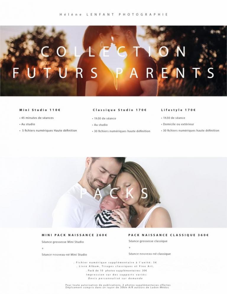 Tarifs de la collection futurs parents